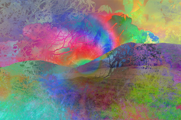 A dreamlike abstract psychedelic background image.