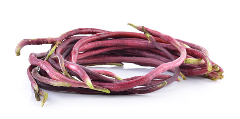 red Long bean isolated on white background