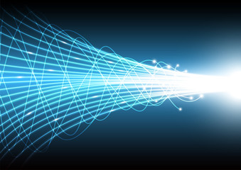 Vector of Technology abstract background with beam glowing line