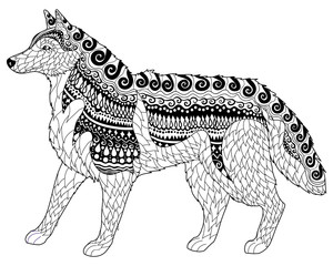 Siberian husky with high details.
