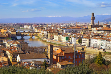 Florence with Piazzale Michelangelo, Tuscany, Italy
