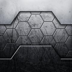 Grung metal background