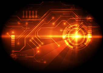 Abstract digital circuit technology background. Illustration Vector