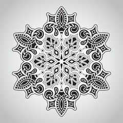 Vector Floral Rounded Mandala Pattern