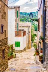 Wall Mural - Dorf Alt Häuser Mediterran Gasse Durchgang