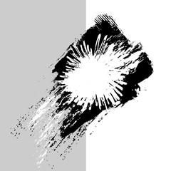 brush stroke logo design element