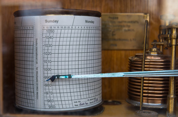 Close up of seismograph