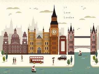 London travel scenery