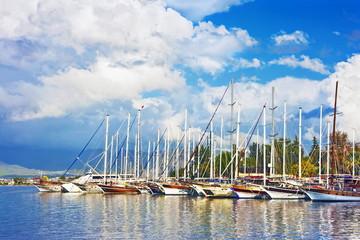 Sailing yachts in Fethiye Turkey
