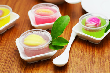 Thai style jelly in cup