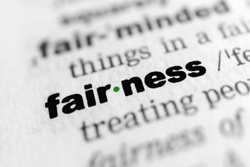 fairness - In German: Kulanz, Gerechtigkeit