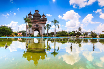 Patuxai literally or Victory Gate or Gate of Triumph in Laos