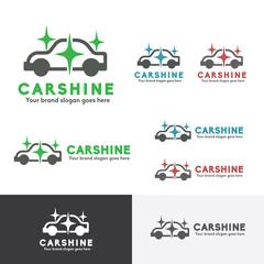 Car Wash logo, Car Wax Service, Car Shine Product