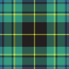 Pride of ireland tartan fabric texture seamless pattern