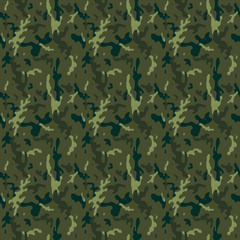 Camouflage Forest Seamless Tile Pattern