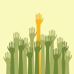 Voting Hands Up