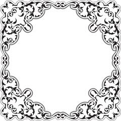 The ornate retro baroque frame