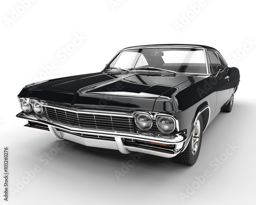 muscle car front view closeup stockfotos und. Black Bedroom Furniture Sets. Home Design Ideas