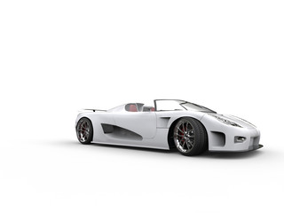 Awesome white convertible sportscar