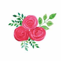 vector illustration bouquet of flowers watercolor