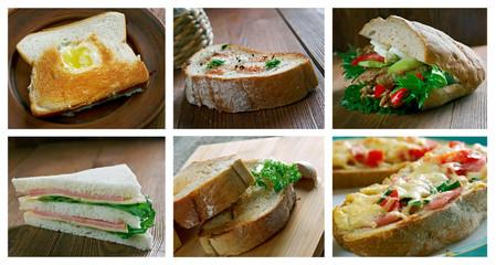 set of different  Sandwich