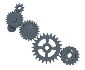 Set of mechanical gears