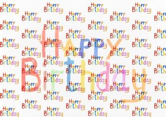 inscription happy birthday watercolor
