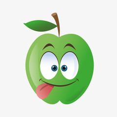 Apple shape cartoon