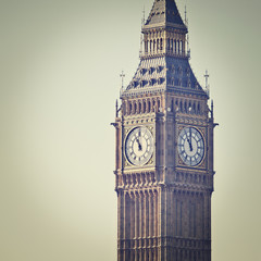 Big Ben in Westminster, London, with Instagram effect filter