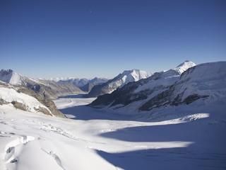 The Aletsch Glacier from Jungfraujoch