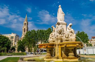 Fontaine à Nîmes.