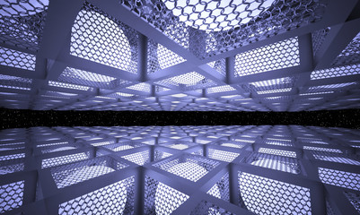 luminous balls inside the metal boxes with the walls of the boxes of mesh netting