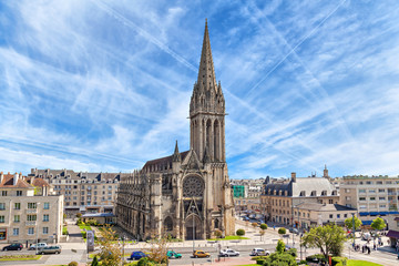 Photo sur Aluminium Edifice religieux Church of Saint-Pierre in Caen, Normandy