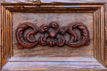 door wooden decoration