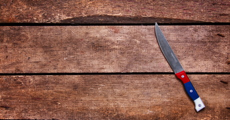 knife on table