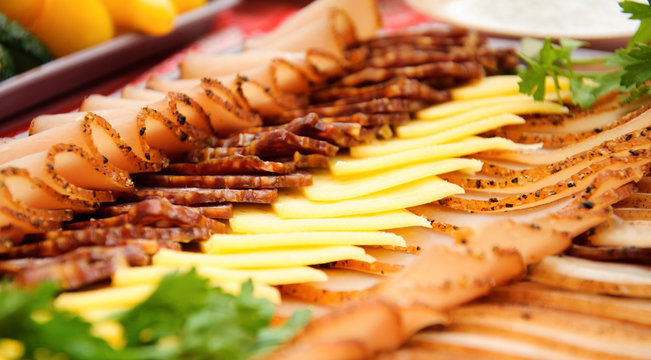 Cold meats with cheese