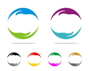 Circle Hands Logo Template 3
