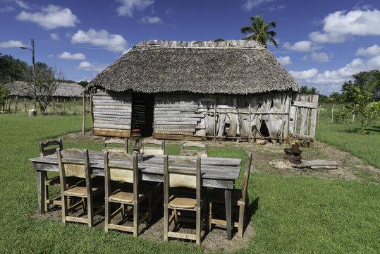 Cuba, Caribbean, Village House in Cienaga de Zapata