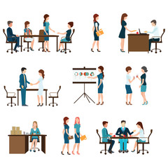 Business meeting design.