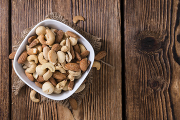 Mixed roasted and salted nuts