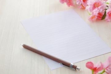 桜と手紙 イメージ Sakura letter image