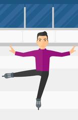 Male figure skater.