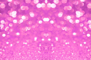 Pink glitter bokeh texture abstract background