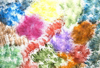 Background of bright colors,Bright watercolor stains,Abstract paint splash background