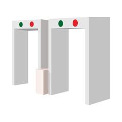Metal detector cartoon icon