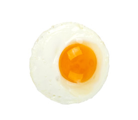 Fried egg isolated on a white background