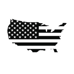USA map flag icon