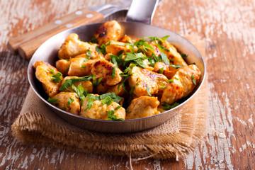 Spicy chicken breast pieces