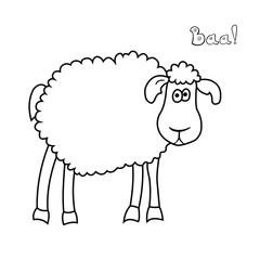 Cute fun cartoon sheep