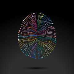 Creative concept of the mind, vector illustration